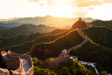 Fototapety Great wall under sunshine during sunset