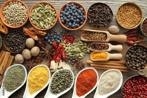 Fototapety, obrazy : Aromatic spices.