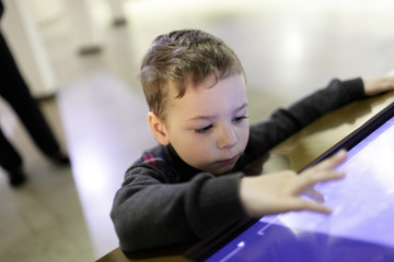Child with touch screen