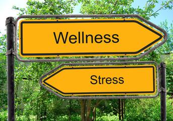 Strassenschild 40 - Wellness