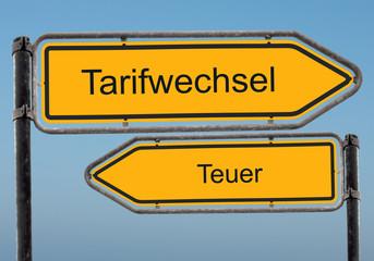 Strassenschild 39 - Tarifwechsel