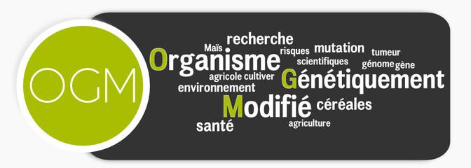 Etiquette OGM nuage de mots
