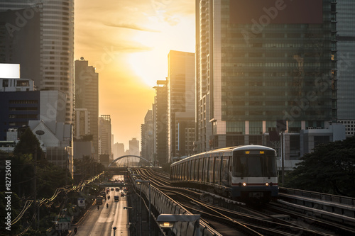 Modern train at bangkok,thailand Poster