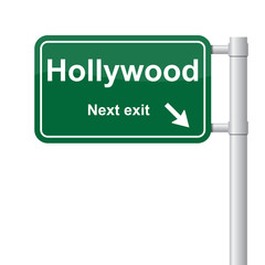 Hollywood next exit green signal vector