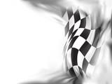 Fototapety race flag  background vector illustration