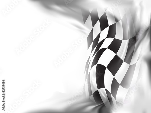 Fotobehang F1 race flag background vector illustration