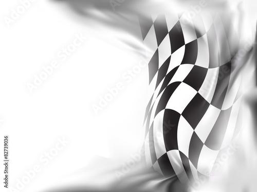 Poster race flag  background vector illustration