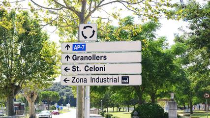 Señalización vertical de información en carreteras