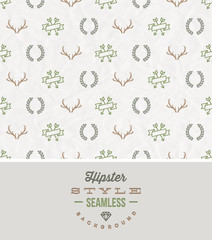 Hipster style seamless background