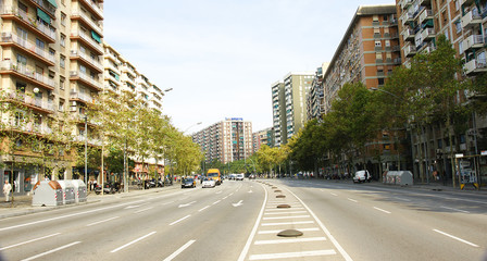 Avenida de la Meridiana en Barcelona