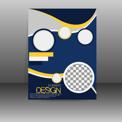 Booklet abstract vector design.