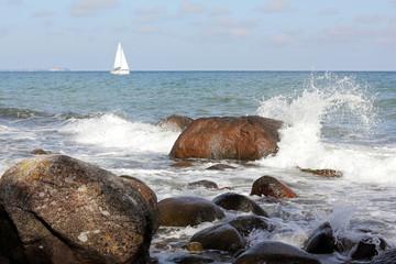 Am Strand vor Lohme auf Rügen