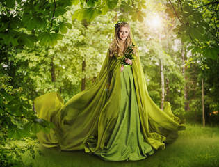 Fantasy Fairy Tale Forest, Fairytale Nature Goddess, Nymph Woman