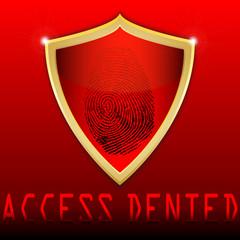 fingerprint on scanner access denied vector illustration