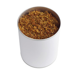 Tobacco in opened jar