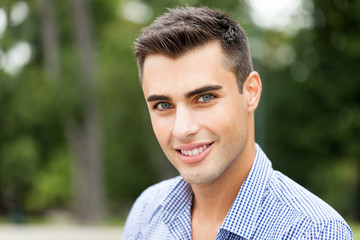 Young man outdoor portrait