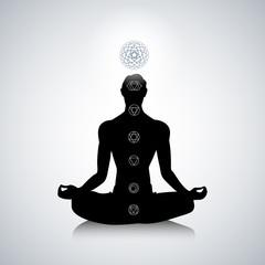 Male yoga silhouette