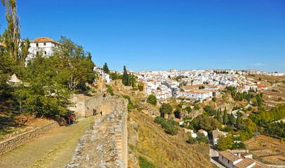 Panoramic view, walls of Ronda, Spain