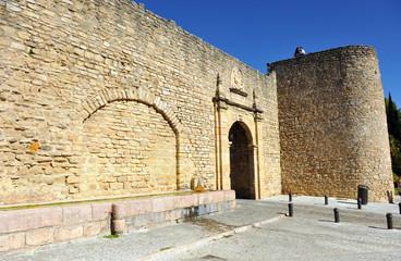 Almocabar gateway, fortress of Ronda, Spain
