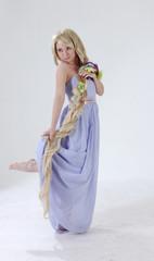 Long hair princess dancing