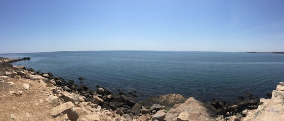 Pano of New England water