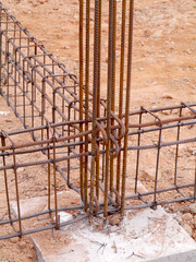 Steel bars for construction.