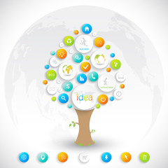 Business plan tree with place for your text  and business