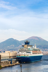 Cruise ship in Naples, Italy