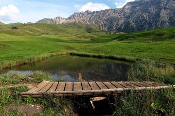 Dolomiti, paesaggio - Alpe di Siusi altopiano dello Sciliar