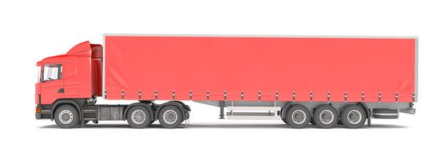 cargo truck - red - shot 42