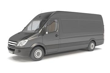 delivery van - black - shot 01