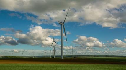 champs des éoliennes