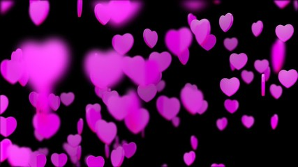 Heart shape Particles World with alpha channel