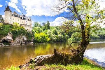 romantic castles of France. Dordogne region