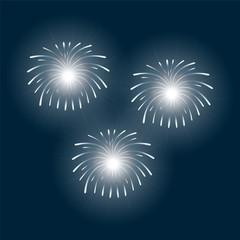 fireworks on a blue background
