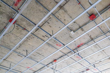 Ceiling frame of construction building