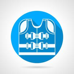 Rescuer jacket round vector icon