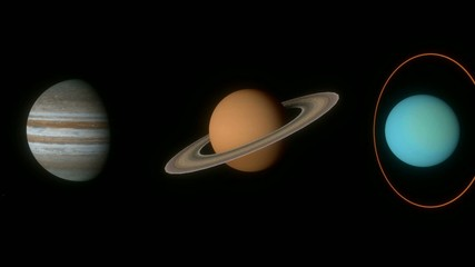 太陽系の惑星達