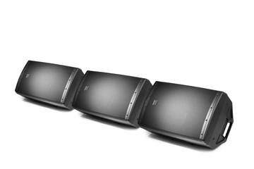 floor audio speaker monitors, isolated on white