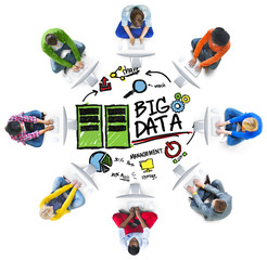 Diversity People Big Data Computer Connecting Share Concept