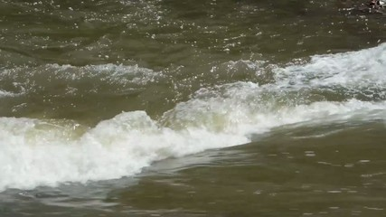 Whitewater in a river