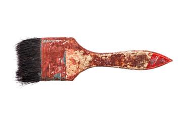 old brush on white background