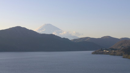 Mt.Fuji and Lake Ashinoko,in Onshi Hakone Park.Filmed in 4K.