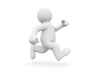 White man running.