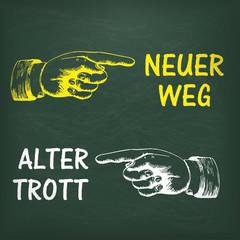 Hände Neuer Weg Alter Trott
