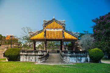pavilion in parks of citadel, Hue