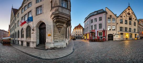 Panorama of Tallinn Old Town in the Morning, Tallinn, Estonia