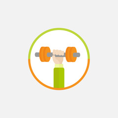 Handdumbell Round Colored Icon Sport  healthy lifestyleFlat