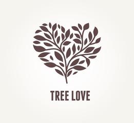 Tree heart - vector icon