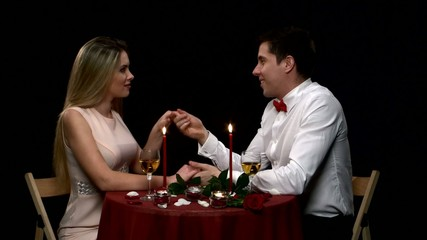 Portrait of beautiful couple enjoying each other's company in a